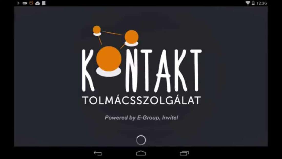 Tablet, beleírva, hogy KONTAKT tolmácsszolgálat