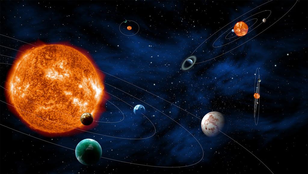 bolygók és a Nap