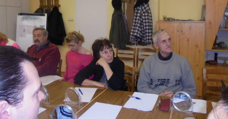 részt vevő tagok a képen