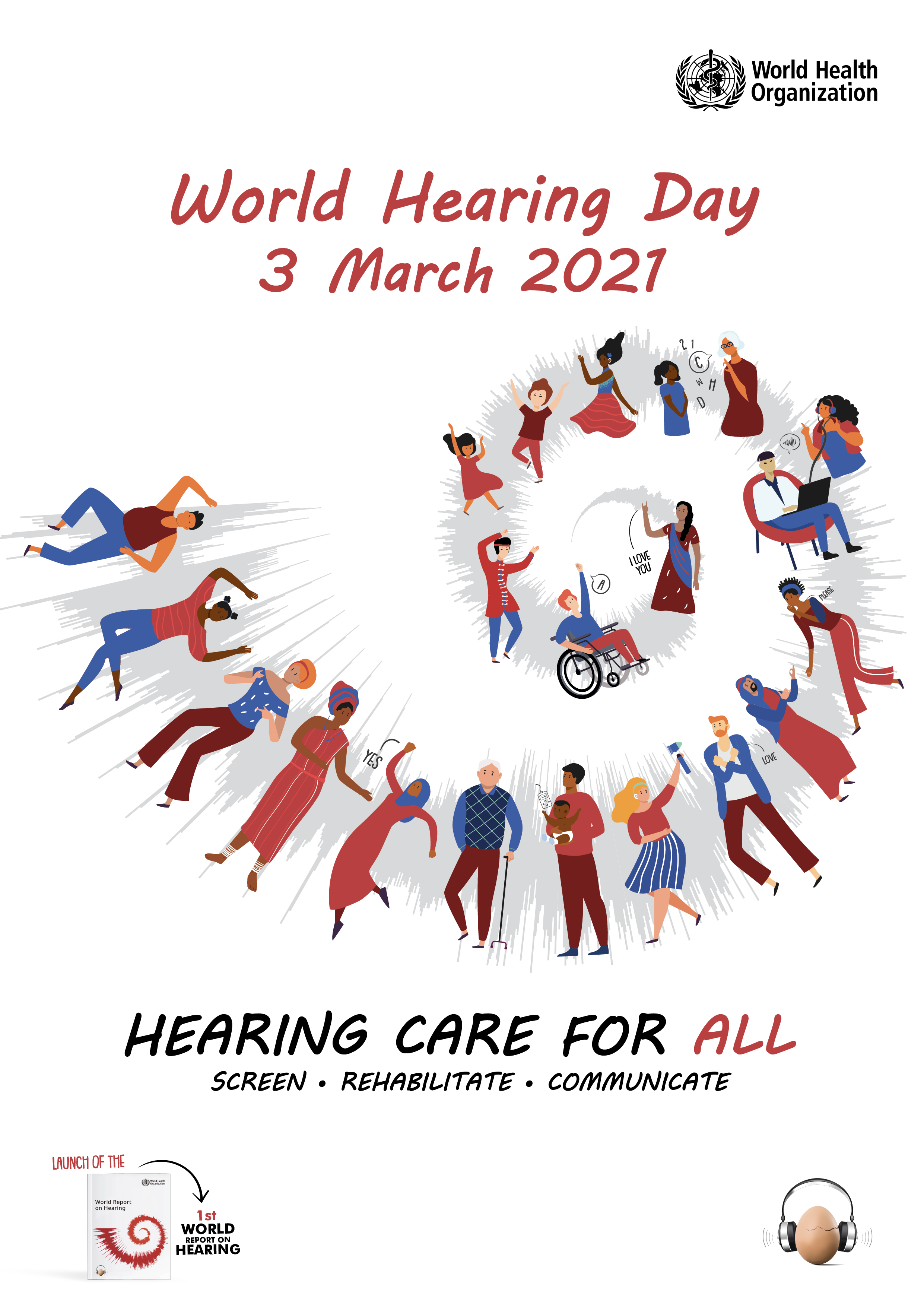 A hallás világnapja 2021 plakátja
